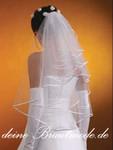 Schleier Brautschleier z.Brautkleid Hochzeitskleid weiß ivory creme Feintüll 001