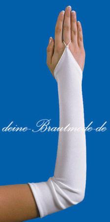 Brauthandschuhe Handschuhe fingerlose Armstulpen Hochzeit – Bild 2