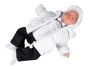 SET Winterjacke Taufanzug Festanzug Jacke Mantel Taufe Baby Anzug Winter Jungen – Bild 1