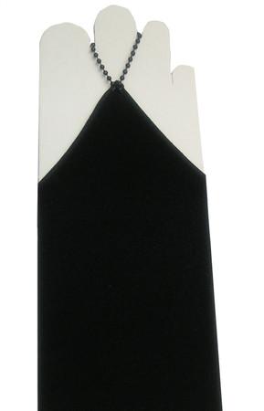 Brauthandschuhe Handschuhe Armstulpen cappuccino bordeaux schwarz kurz lang – Bild 4