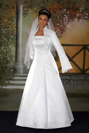 Hochzeitskleid Brautkleid Bolerojacke Hochzeit Kleid Träger Bolero Jacke – Bild 1