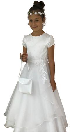 Kommunionkleid Lisa Perlen Spitze Kommunionskleid – Bild 1