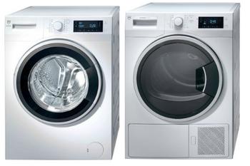 V-ZUG Waschturm, AdorinaWaschen V400 + AdorinaTrocknen V400, Türanschlag: links, 1102700001 + 1201600001