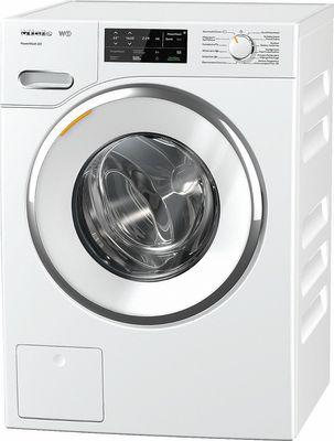 Miele Waschmaschine WWI 300-20 CH White Edition, 9 kg Schontrommel, PowerWash-System 2.0, CapDosing, SoftSteam und schräge Blende, A+++ -40%