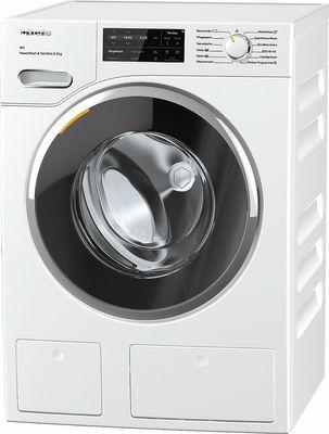 Miele Waschmaschine WWI 800-60 CH WhiteEdition, 9 kg Schontrommel, CapDosing, TwinDos, SoftSteam - Blendenausführung 5° geneigt, A+++