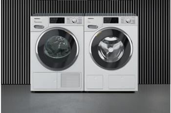 Miele Waschturm Waschmaschine WWI 800-60 CH + Wärmepumpentrockner TWJ 600-60 CH s WhiteEdition
