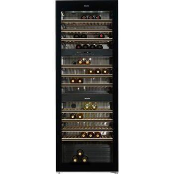 Miele Stand-Weintemperierschrank KWT 6833 SG, 70 cm, 178 Flaschen, 3 Temperaturzonen, DynaCool, Active AirClean, FlexiFrame, SoftClose, A