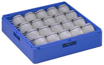 Electrolux Professional WTAC63 Korb (Kunststoff, blau) für Tassen / Kaffeetassen mit geneigtem Boden Fassungsvermögen: 20-24 Tassen