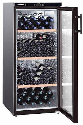 Liebherr Weinkühlschrank WKg 164 EEV Vinothek, schwarz, für 164 Flaschen, +5 bis +20°C, Aktivkohlefilter, A, inkl. 5 Jahre Garantie