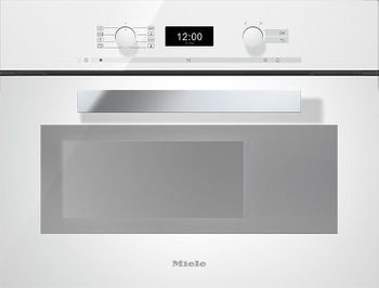Miele Dampfgarer mit Backofen DGC 6400, 60 cm, Brillantweiss, DirectControl, MonoSteam, PerfectClean