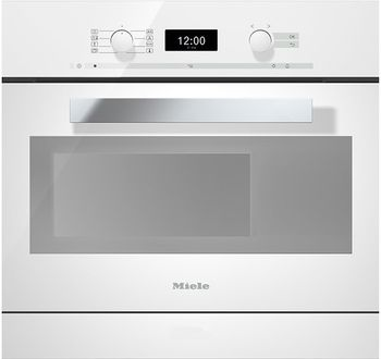 Miele Dampfgarer mit Backofen DGC 6400-55, 55 cm, Brillantweiss, DirectControl, MonoSteam, PerfectClean