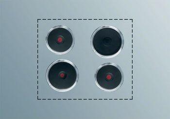 Electrolux Kochplatten-Set PS+B412, Schaltkasten-Bedienung, 4 Gusskochplatten, Befestigungsmaterial