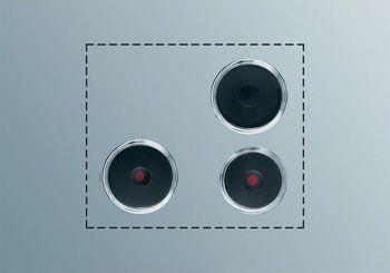 Electrolux Kochplatten-Set PS+B302, Schaltkasten-Bedienung, 3 Gusskochplatten, Befestigungsmaterial