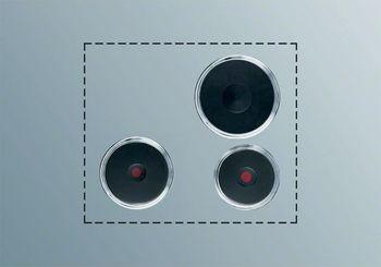 Electrolux Kochplatten-Set PS303, Schaltkasten-Bedienung, 3 Gusskochplatten
