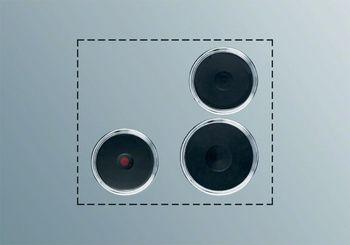 Electrolux Kochplatten-Set PS+B32, Schaltkasten-Bedienung, 3 Gusskochplatten, Befestigungsmaterial