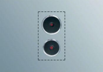 Electrolux Kochplatten-Set PSB200/202, Schaltkasten-Bedienung, 2 Gusskochplatten, Befestigungsmaterial