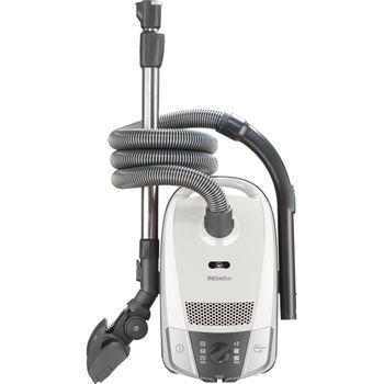 Miele Bodenstaubsauger Compact C2 Allergy PowerLine, Lotosweiss, Comfort-Kabelaufwicklung, Parksystem, 3-tlg. Zubehör, HEPA AirClean-Filter