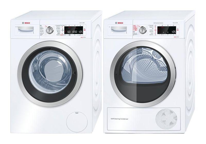 Bosch Waschturm Waschmaschine WAW32640CH + Wärmepumpentrockner WTW85540CH