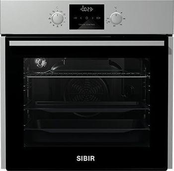 SIBIR Backofen EB 6301 E, 60 cm, Edelstahl, Schnellaufheizung, AquaClean, GentleClose, A