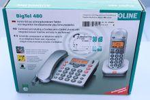 AUDIOLINE Telefon Bigtel 480 silber