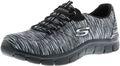 SKECHERS 12414/BKCC Empire-Game On Damen Sneaker Slipper schwarz/grau 001