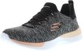 SKECHERS 12991/BKCL Dynamight-Break-Through Damen Sneaker schwarz/koralle 001