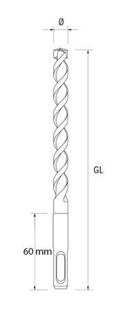 Irwin Joran SpeedHammer PLUS SDS+ Bohrer 6.5x210mm Steinbohrer Beton Granit – Bild 2