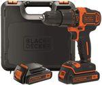 Black & Decker BDCHD18KB 2-Gang Akku Schlagbohrschrauber 18V  2x Akkus Koffer  001