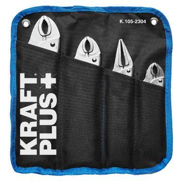 KRAFTPLUS® K.105-2304 Gripzange Feststellzange Klemmzange Schweißerzange 4-tlg. – Bild 1