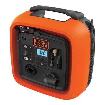 Black & Decker ASI400 Kompressor 11 Bar 160 PSI tragbar 12V  – Bild 1