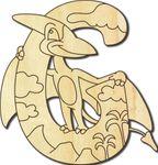 Holzbuchstabe Dinosaurier G 001