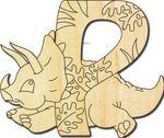 Holzbuchstabe Dinosaurier P 001