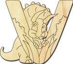 Holzbuchstabe DInosaurier V 001