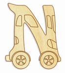 Holzbuchstabe Fahrzeuge N 001