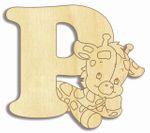 Holzbuchstabe Giraffe P  001