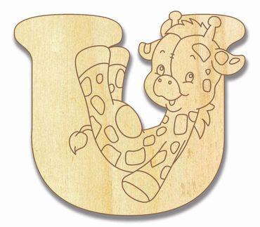 Holzbuchstabe Giraffe U