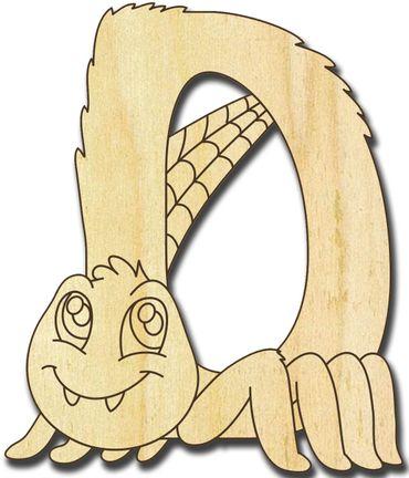 Holzbuchstabe Käfer D
