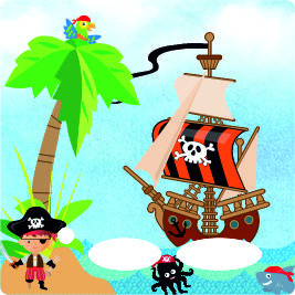 Folie für Musikbox - Piratenschiff – Bild 1