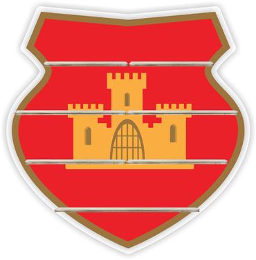 Regal für Musikbox - Ritterschild rot