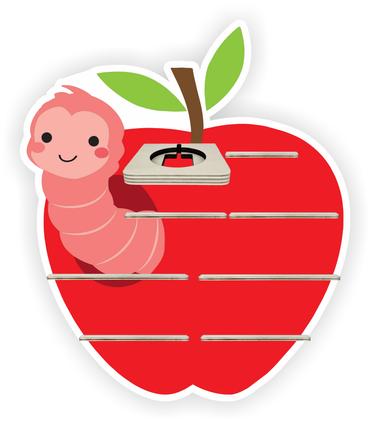 Regal für Musikbox - Apfelwürmchen – Bild 1