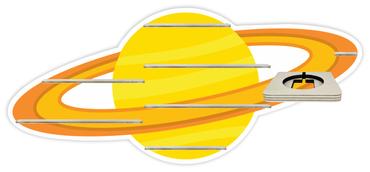 Regal für Musikbox - Planet Saturn