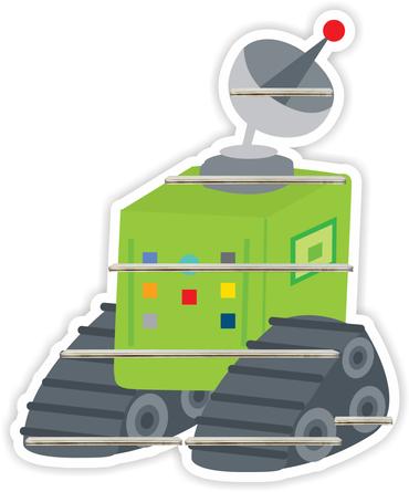 Regal für Musikbox - Roboterfahrzeug