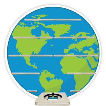 Regal für Musikbox - Weltkugel