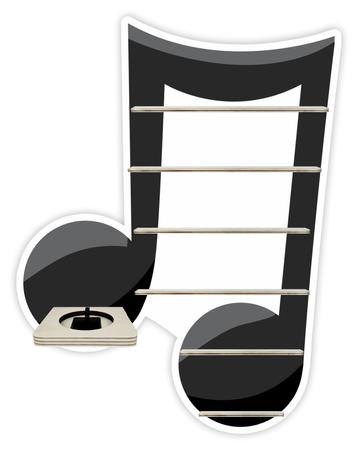 Regal für Musikbox - Doppelnote – Bild 1