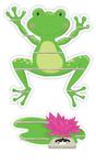 Regal für Musikbox - Frosch mit Seerose 001