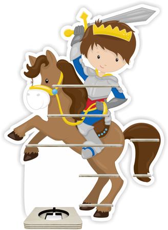 Regal für Musikbox - Ritter mit Pferd