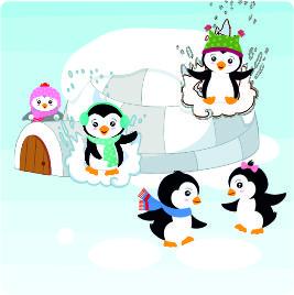Folie für Musikbox - Pinguin – Bild 1