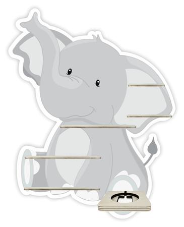 Regal für Musikbox - Elefant