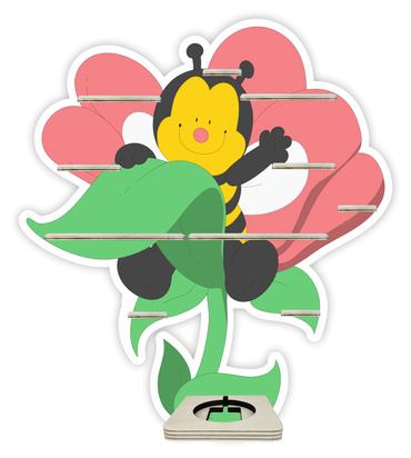 Regal für Musikbox - Blumenbiene – Bild 1