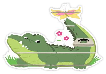 Regal für Musikbox - Krokodil im Gras